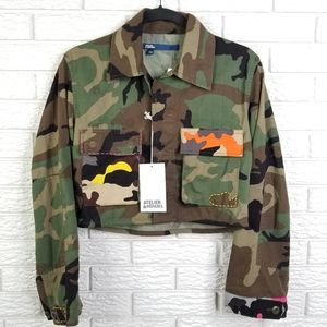 Atelier & Repairs Cropped Woodland Camo Jacket XS
